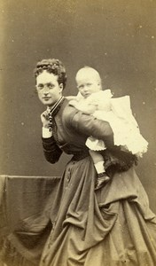 British Royal Family Alexandra of Denmark & Louise Old CDV Photo Downey 1868