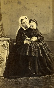 British Royal Family Queen Victoria Old CDV Photo Ghemar 1865