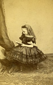 British Royal Family Princess Beatrice Old CDV Photo Ghemar 1865