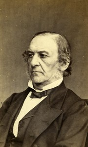 United Kingdom London Politician William Gladstone Old Photo CDV Downey 1867