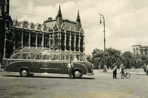 Hungary or Austria Salzburg Nice bus coach Albus Old Amateur Photo Snapshot 1935