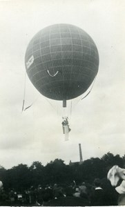 France Fives Lille Festival Ballooning Old Amateur Photo Snapshot 1935