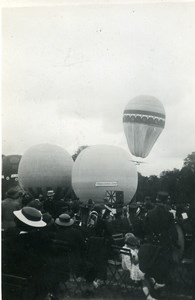 France Fives Lille Festival Ballooning Crowd Old Amateur Photo Snapshot 1935