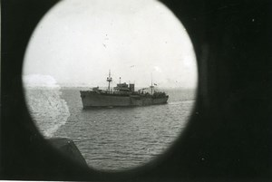 Egypt WWII French Navy Cruiser Barfleur Suez Canal Old Photo Snapshot 1940