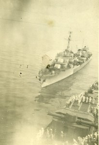 Vietnam Navy Docking of Triomphant at Cap St Jacque Amateur Photo Snapshot 1940