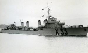 WWII French Military Navy Destroyer Verdun X33 Old Photo Snapshot 1940