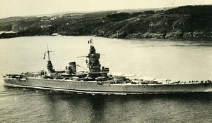 France WWII French Military Navy Battlecruiser Dunkerque Old Photo Snapshot 1940
