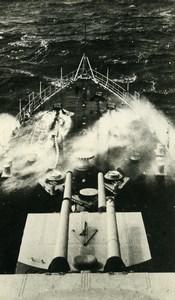 France WWII French Military Navy Battleship Old Photo Snapshot 1940