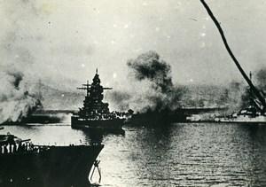 Algeria Mers el Kebir Battle WWII French Military Navy Old Photo Snapshot 1940