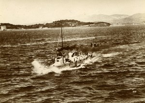 French Marine Military Navy Torpedo Boat 37 Old Photo Marius Bar 1900