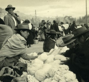 South America Ecuador Market Scene Old Photo Beauvais 1960
