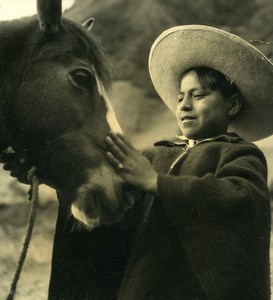 South America Ecuador Daily Life Scene Horse Child Old Photo Beauvais 1960
