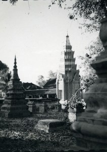 Cambodia Angkor Wat Vat Archaeological Site Old Amateur Snapshot Photo 1934