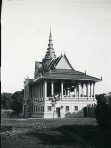 Cambodia Phnom Penh Royal Palace Moonlight Pavilion Amateur Snapshot Photo 1934