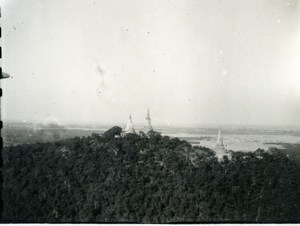 Cambodia Phnom Penh Historic Site Panorama Old Amateur Snapshot Photo 1934