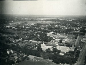 Cambodia Phnom Penh Historic Site Aerial View Old Amateur Snapshot Photo 1934