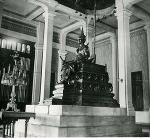 Cambodia Phnom Penh Historic Site Temple Interior Amateur Snapshot Photo 1934