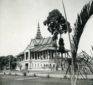 Cambodia Phnom Penh Royal Palace Moonlight Pavilion Amateur Snapshot Photo 1934
