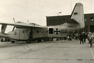 USA Military Transport Aircraft German Grumman Albatross SC-102 Old Photo 1960
