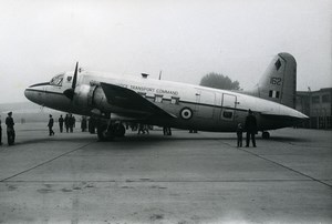 USA Military Transport Aircraft French Vickers VC.1 Viking Old Photo 1960