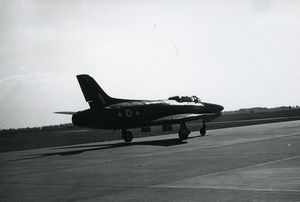 USA Military Fighter Aircraft US Air Force or French ? Old Photo 1960