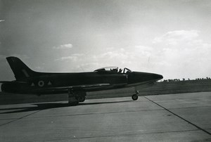 UK Military Fighter Aircraft No. 2 Squadron RAF Supermarine Swift Old Photo 1960