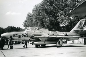 USA Military Fighter Aircraft Luftwaffe Republic RF84F Thunderflash Photo 1960