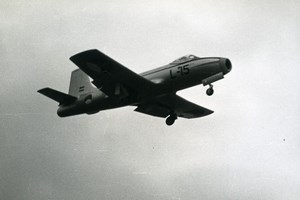 Netherlands Military Jet Trainer Aircraft Fokker S.14 Machtrainer Old Photo 1960
