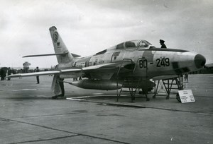 Luftwaffe Republic RF-84F Thunderflash DB-241 Aircraft Aviation Old Photo 1960