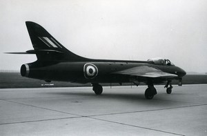 USA Military Fighter Aircraft Royal Air Force Hawker Hunter F.6 Old Photo 1960