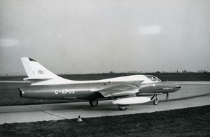 USA Aircraft Royal Air Force Hawker Hunter T.66A G-APUX Aviation Old Photo 1960