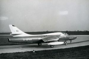 USA Aircraft Royal Air Force Hawker Hunter T.66A G-APUX Aviation Old Photo 1960