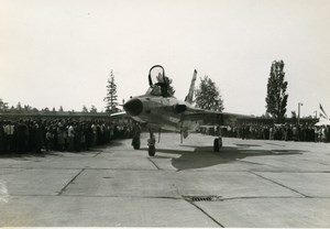Europe ? Military Fighter Aircraft Airshow Old Photo 1960