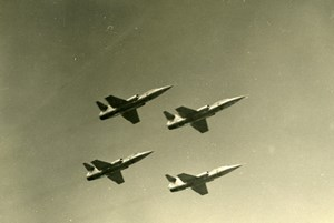 Germany ? Military Fighter Aircraft Squadron Aviation Old Photo 1960