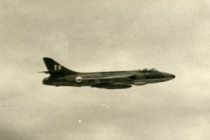 USA Military Fighter Aircraft Hawker Hunter RAF ? Aviation Old Photo 1960