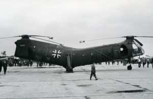 USA? Military Helicopter Militaire Piasecki Luftwaffe Aviation Old Photo 1960