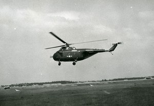 USA Military Helicopter Sikorsky S55 US Army Aviation Old Photo 1960