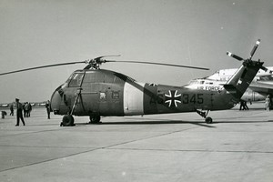 USA ? Military Helicopter Sikorsky S58 Luftwaffe Aviation Old Photo 1960