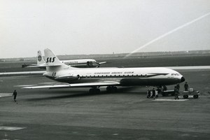 SUD SE-210 Caravelle Einar Viking Aviation Scandinavian Airlines Old Photo 1960
