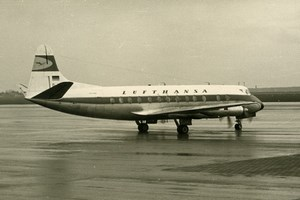Vickers Viscount 800 Aviation Airliner Airplane Lufthansa Old Photo 1960