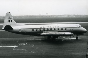 Vickers Viscount V.785D I-LOTT Aviation Airliner Airplane Alitalia Photo 1960