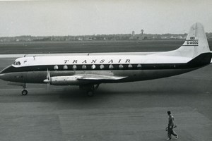 Vickers Viscount G-AODG Aviation Airliner Airplane Transair Old Photo 1960