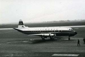 Vickers Viscount 800 D-ANIZ Aviation Airliner Airplane Lufthansa Old Photo 1960