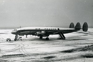 Super Constellation F-BHBD Aviation Airliner Airplane Air France Old Photo 1960