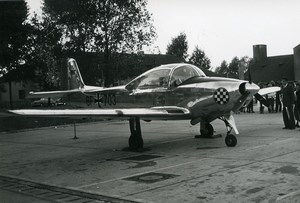 Germany Aviation Light Aircraft BF-703 Airshow Old Photo 1960