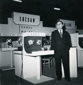 France Paris Photo Cine Sound Fair Booth Ercsam Camex Old Amateur Snapshot 1951