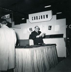 France Paris Photo Cine Sound Fair Booth of Chojnow Old Amateur Snapshot 1951