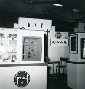 France Paris Photo Cine Sound Fair Booth Gevaert Kinax Old Amateur Snapshot 1951