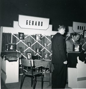 France Paris Photo Cine Sound Fair Booth of Gerard Old Amateur Snapshot 1951