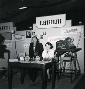 France Paris Photo Cine Sound Fair Booth Electroblitz Old Amateur Snapshot 1951